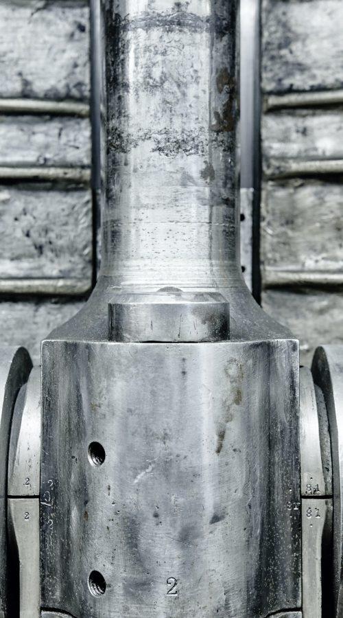 Motorventil Detail. Industrielle Stahl-Ausrüstung