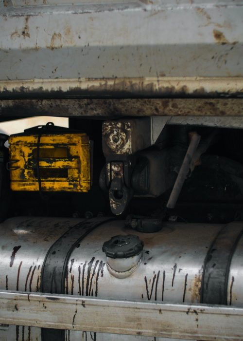 details of a metal truck /industry machine