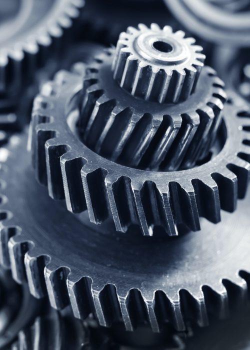Metallzahnräder und -lager